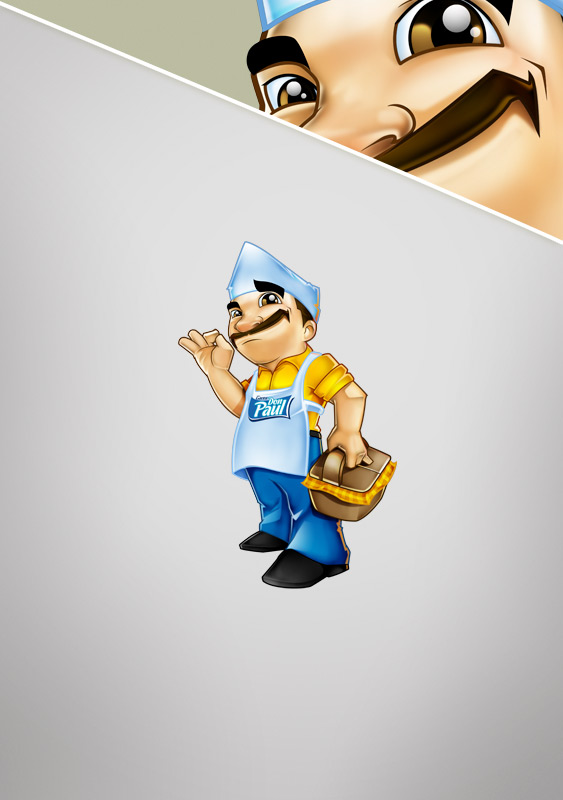 Don Paul Tacos Mascot Design