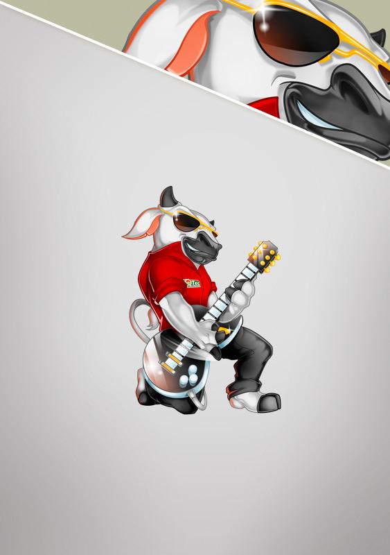Rock Star Bull Mascot Design