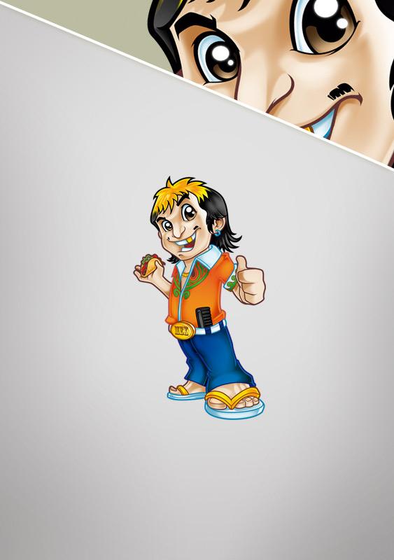 El Taco Naco Mascot Design