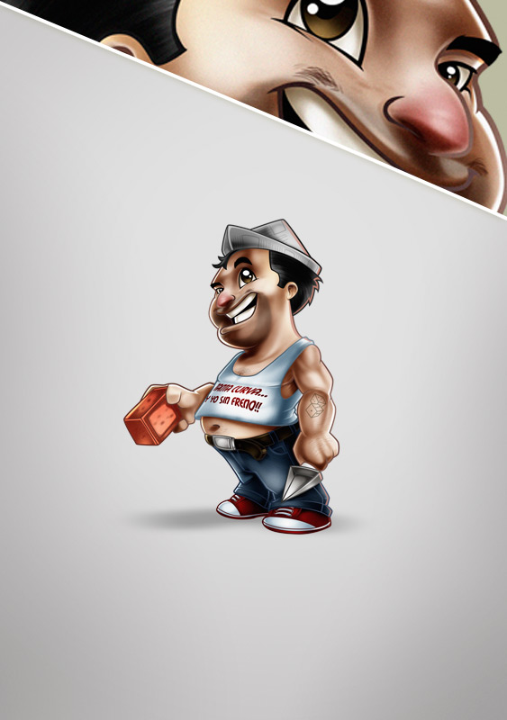 Construction worker mascot design