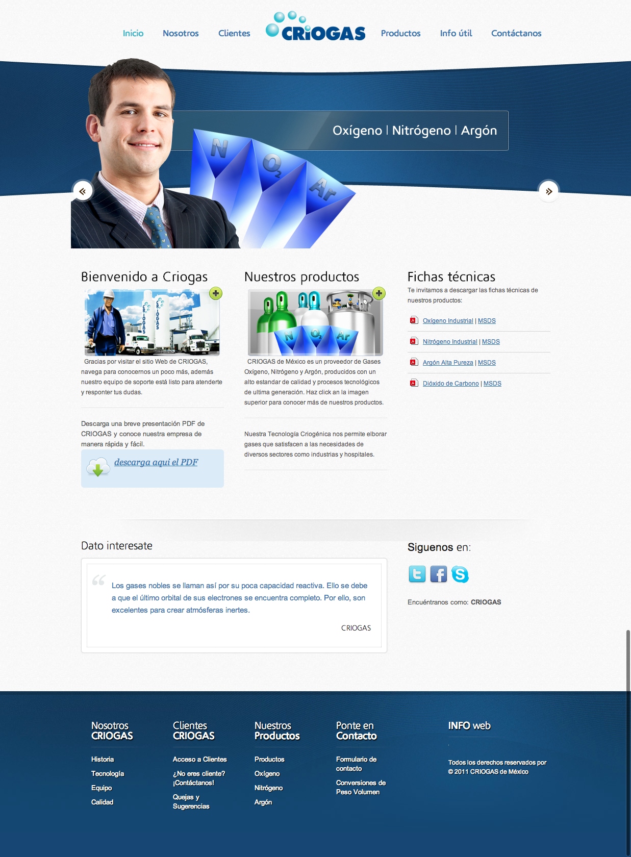 Criogas Website design