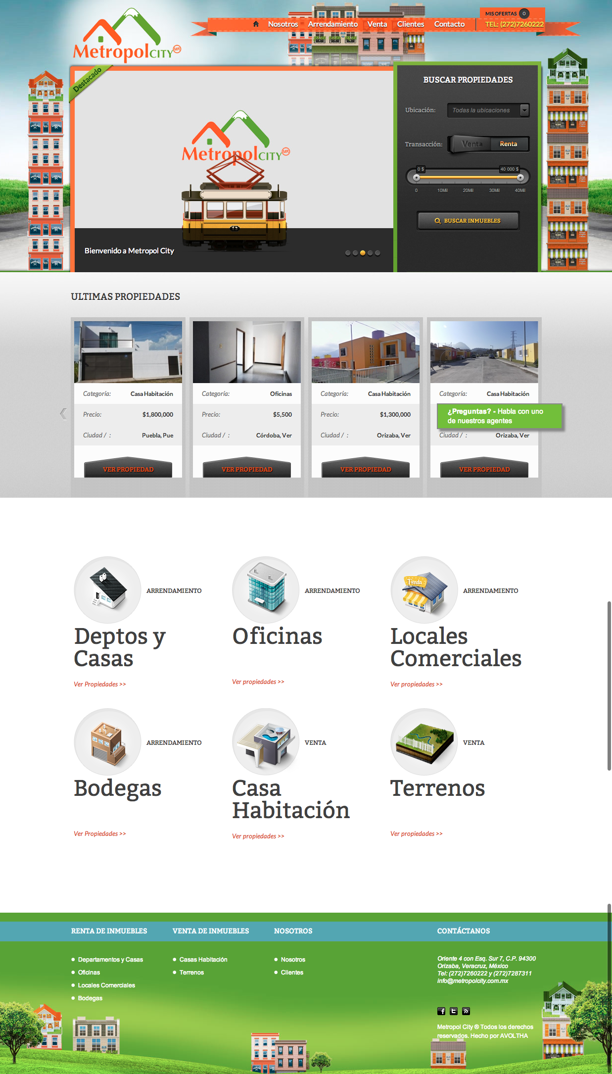 Metropol City Website Design