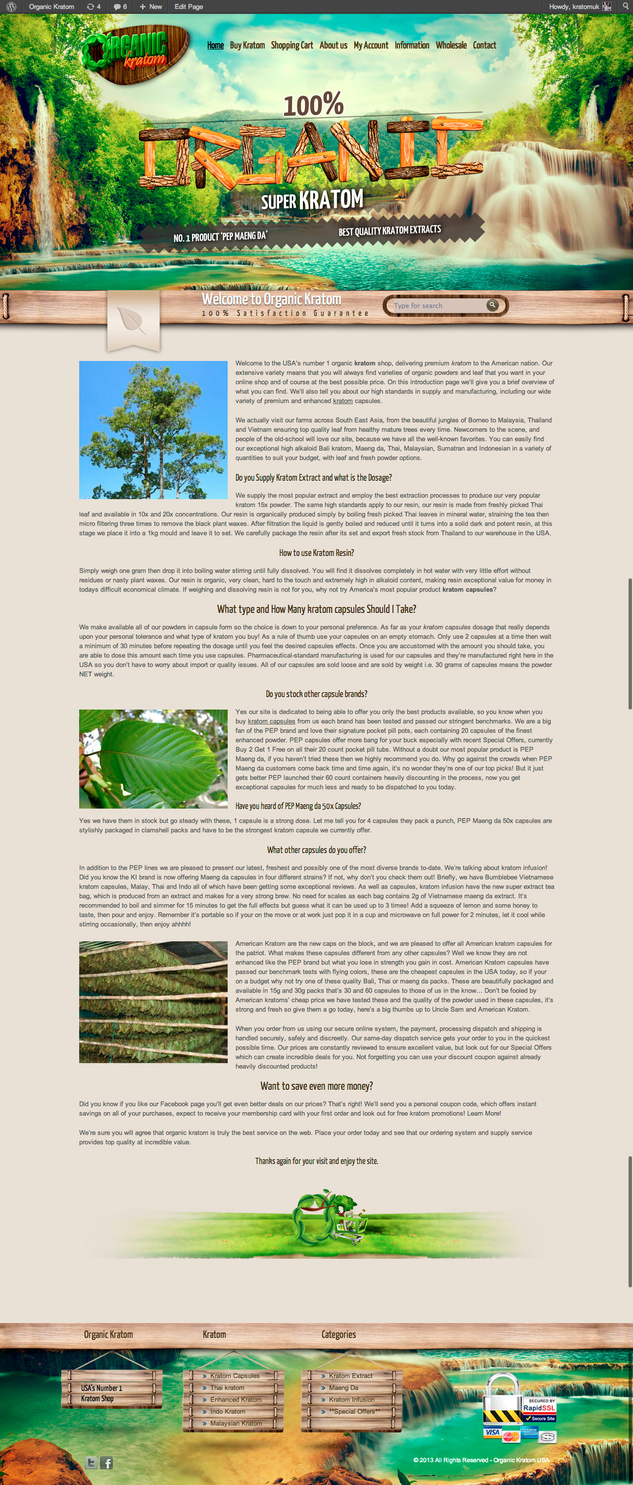 Organic Kratom Website Design