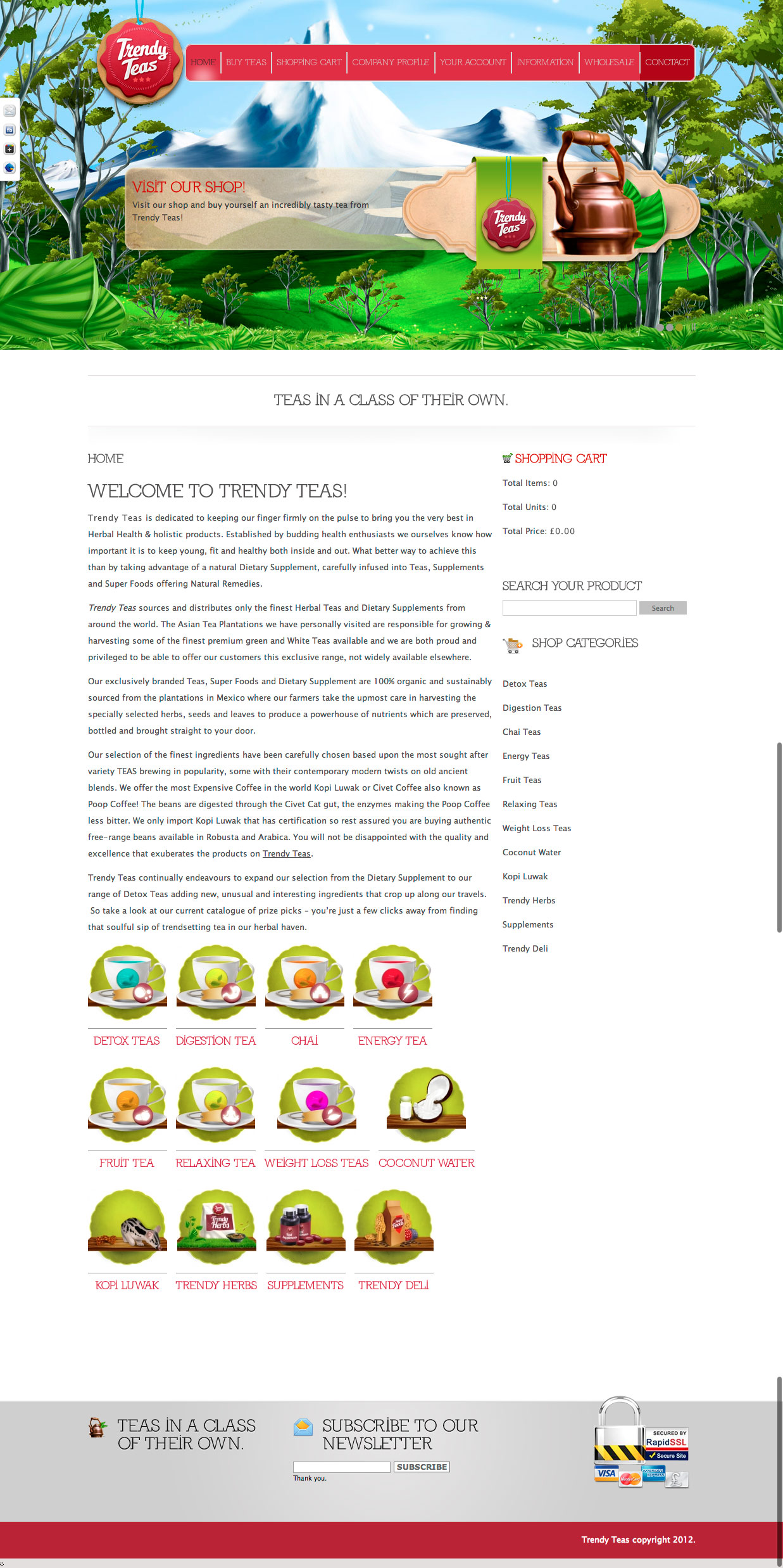Trendy Teas Website Design