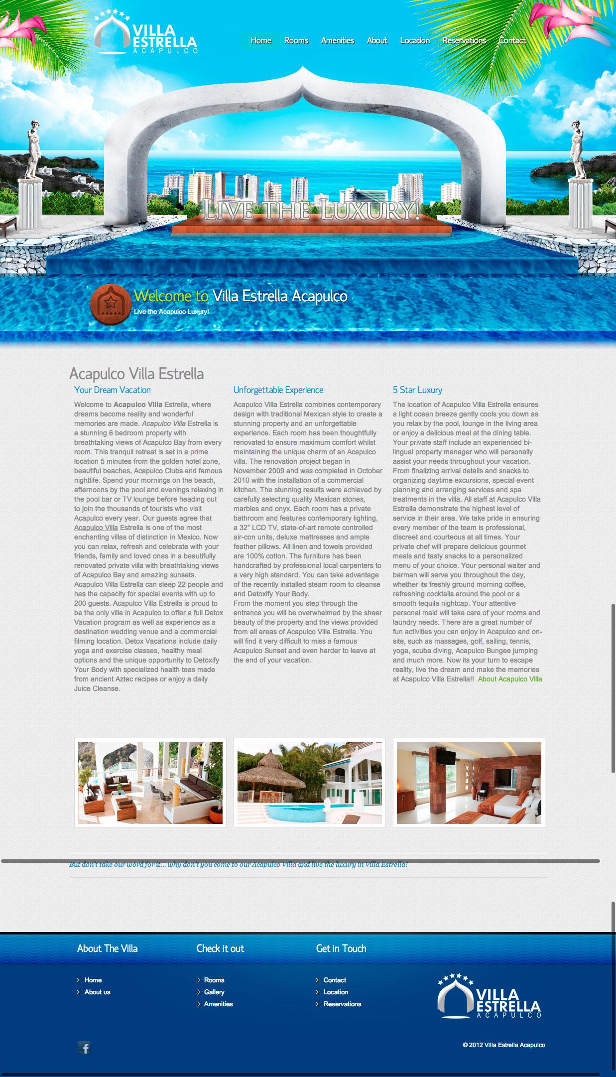 Acapulco Villa Estrella Website Design