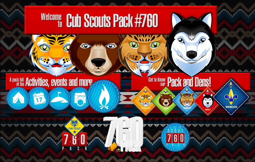 Cub Scouts Icons Design