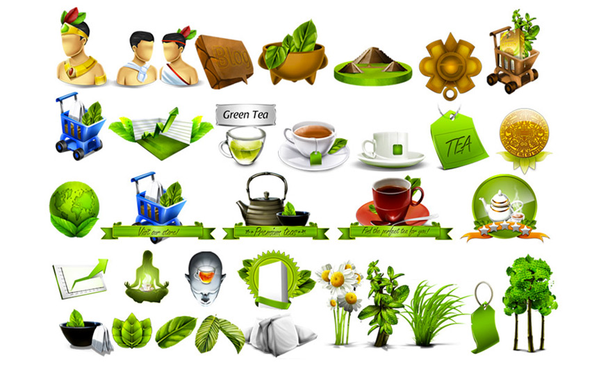 Natural & Herbal icon designs